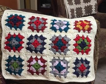 Crocheted Granny Doll Blanket