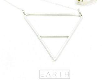 EARTH Sterling Silver Triangle Necklace: ALCHEMY® collection