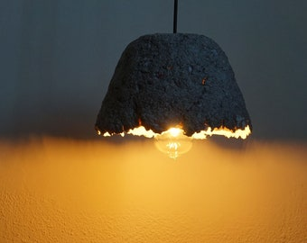 Pendant light Paper Mach Grey, upcycling, sustainable design from Austria