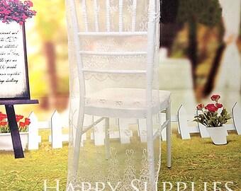 2pcs Wedding Lace Chair Covers / Wedding Decoration / Party Decoration / Bridal Shower
