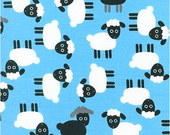 Sheep on Blue from Robert Kaufman's Urban Zoologie Collection by Ann Kelle