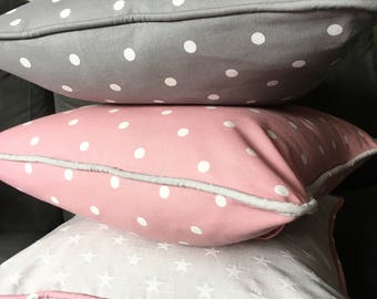 Bespoke Cushion Pillow Handmade - Nursery Collection: Co-Ordinating Cushion (Personalise Me!)