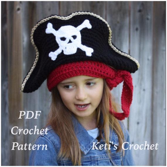 Häkeln Sie Muster: Kinder Piraten Hut Piraten Hut Häkelmuster