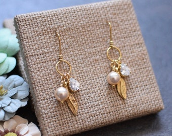 Cluster Dangles, Feather Dangles, Crystal Dangles, Pearl Dangles