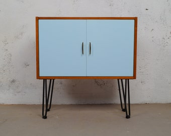 Small chest of drawers 60s coloured MidCentury retro Hairpin