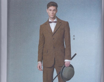 Butterick 6503 Men's Early 20th Century Edwardian Suit Jacket Pants UNCUT Sewing Pattern