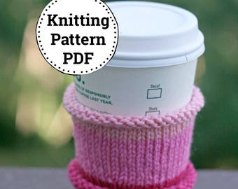 Knitting Pattern | Knitted Cup Cozy | Cup Cozy Pattern | Knitting Tea Cozy Pattern | Tea Cozy Pattern | Easy Cup Cozy Pattern