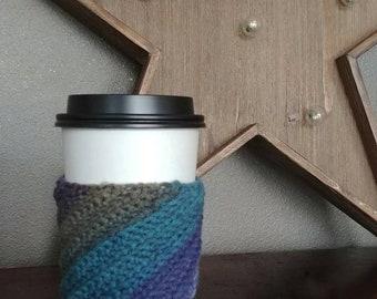 Crochet Coffee Cozy, Coffee Sleeve, Tea Sleeve, Tea Cozy, Crochet Coffee Cuff, Coffee Insulator
