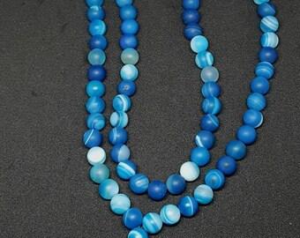 Blue glass mala