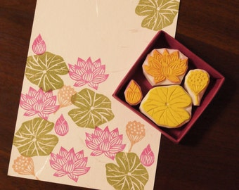 Lotus Rubber stempel Set