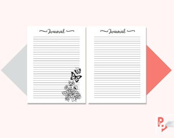 JOURNAL Happy Planner Printable Inserts, Create 365, Happy Planner Insert, Happy Planner Classic, MAMBI Planner, Instant Download
