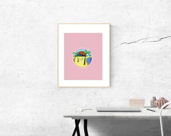 Original Beach Holiday Art Print