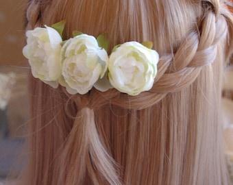 Beautiful bridal flower comb,flower girl hair comb.wedding hair Accessories , Bridal hair comb,Wedding accessory
