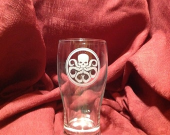 Hydra's theme engraved glassware