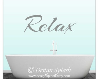RELAX Bathroom Wall Decal S-129