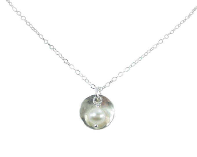 Disc & Bead Necklace  - 1/2 inch
