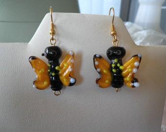 Glass Butterfly Earrings