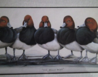 Bullys boy bird print - framed