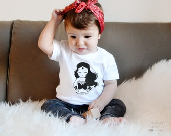 "Baby girl t-shirt ""Wonder girl"", short sleeve tee, baby tee, baby clothes, child gift"