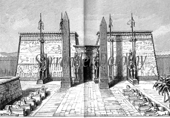 ancient egyptian architecture antique 1906 edwardian steel