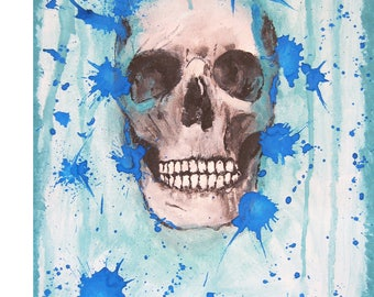 Watercolor on canvas panel / AFTERLIFE 8 x 10 canvas Panel