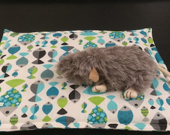 pet bed.  cage liner. lap pad.  quilted pet mat