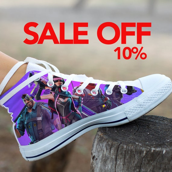 Fortnite Birthday Custom Fortnite Shoes High Fortnite Battle Top Fortnite Sneaker Royale Party Fortnight Shoes Custom Converse Converse ZUdSxq