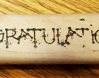 CONGRATULATIONS Rubber Stamp from D.O.T.S