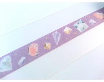 "Kawaii Crystal Gem Washi Tape Sample 24"""