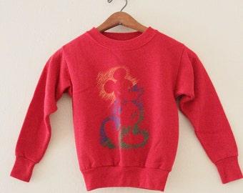 KIDS! 90's Red Mickey Sweatshirt