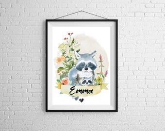 Custom poster raccoon