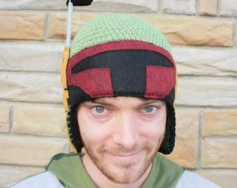 Boba Fett crochet hat