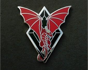 Dragon Pin, Wyvern Pin, Hard Enamel Pin, Fantasy Pin, Dragon Button, Game of Dragon