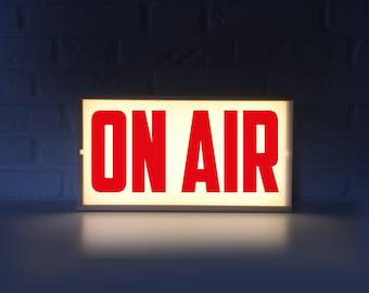 On air lighted sign - On air sign with red letters - Lightbox On air light box - On air lamp - on air lightbox