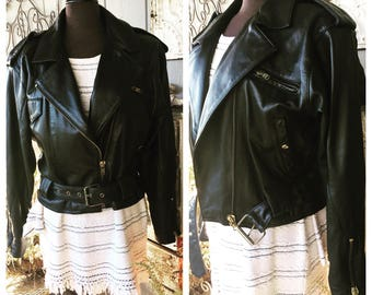 SALE****Awesome Leather Moto Jacket Women's Size M/L