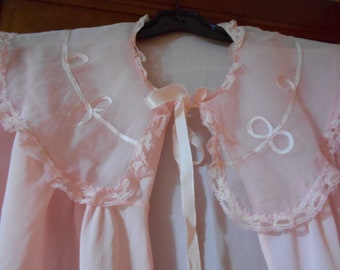 lovely pink silky womans bed jacket