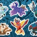 WoW HIPPOGRYPH VINYL STICKERS. Warcraft Night Elf Mount Fan Art Sticker Sheet. Mythological Creature.