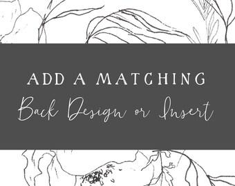 Matching Back Design or Insert