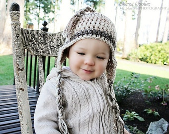 Crochet HAT Pattern: 'Wee Willow' Crochet Earflap Hat, Chunky Crochet, Multi Sized