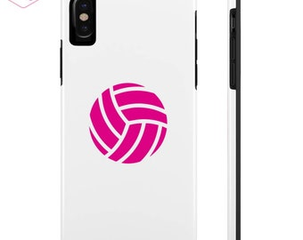 Pink Volleyball Phone Case, Tough iPhone Case, Tough Samsung Case, Sports Case,