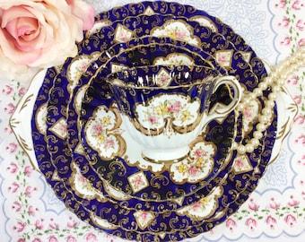 "Royal Stafford ""Heritage"" 29 Piece Complete English Tea Set Trio Cup, Saucer, Plate, Teapot 4 Tea Party, Wedding, Tea Time #798"