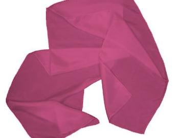 "Garden Rose 100% Habotai Silk Scarf - 8""x 54"" - Dyed"
