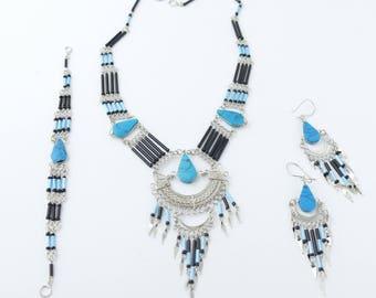 Ethnic Necklace Tribal Necklace Ethnic Jewelry Statement Necklace Boho Necklace Beaded Necklace jewelry tribal jewelry gift for her necklace