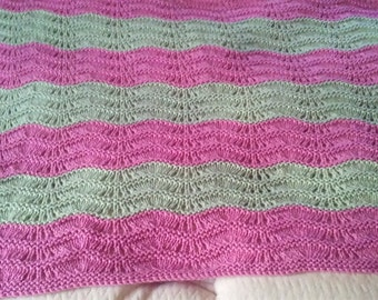 Lacy Ripple Baby Afghan