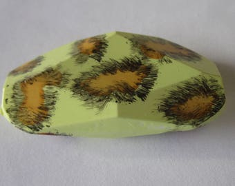 1 large oval Pearl acrylic mixed pattern (PV21-1)