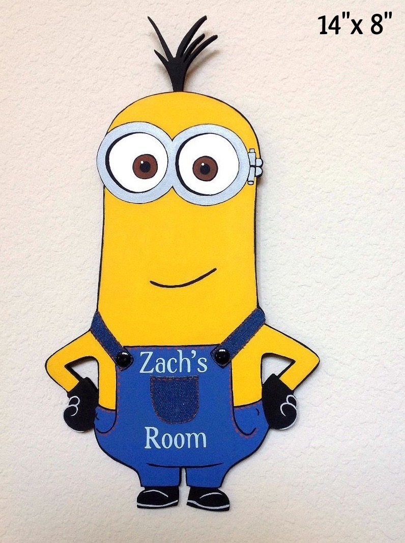 Minion decor kids door signs minion sign kids door hanger