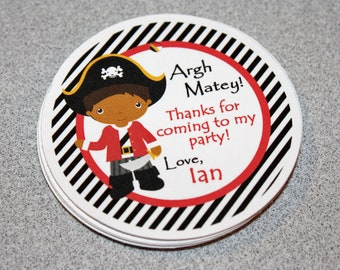 Pirate Birthday Favor Tags / Pirate Favor Tags / Pirate Gift Tags / Pirate Birthday Party / Pirate Tags / Choose Your Pirate / Set 12
