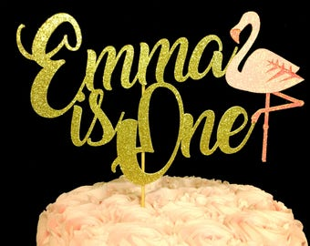 Flamingo 1st birthday, Flamingo cake topper, 1st birthday cake topper, flamingo cake topper, 1st birthday flamingo, fiesta decorations