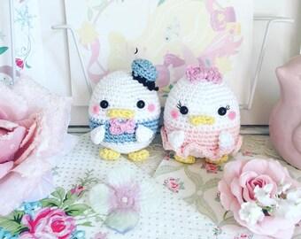 Daisy or Donald Duck crochet doll amigurumi disney ufufy