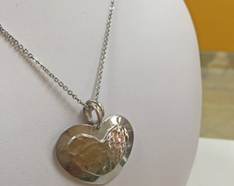 Vintage 925  Italy Sterling Silver Heart Pendant!!!  Free US Shipping!!!
